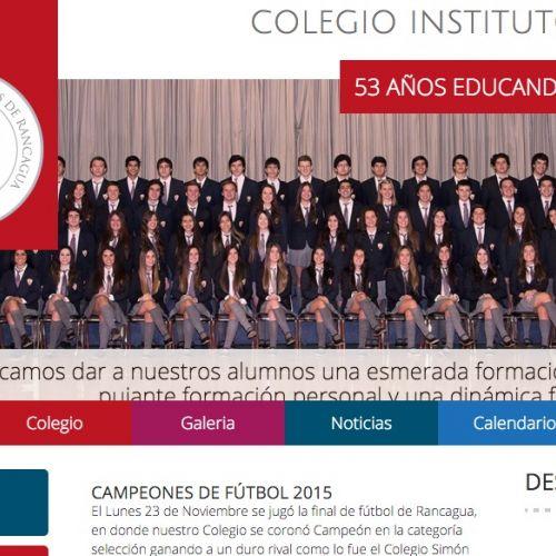 Desarrollo del sitio web del Instituto Inglés
