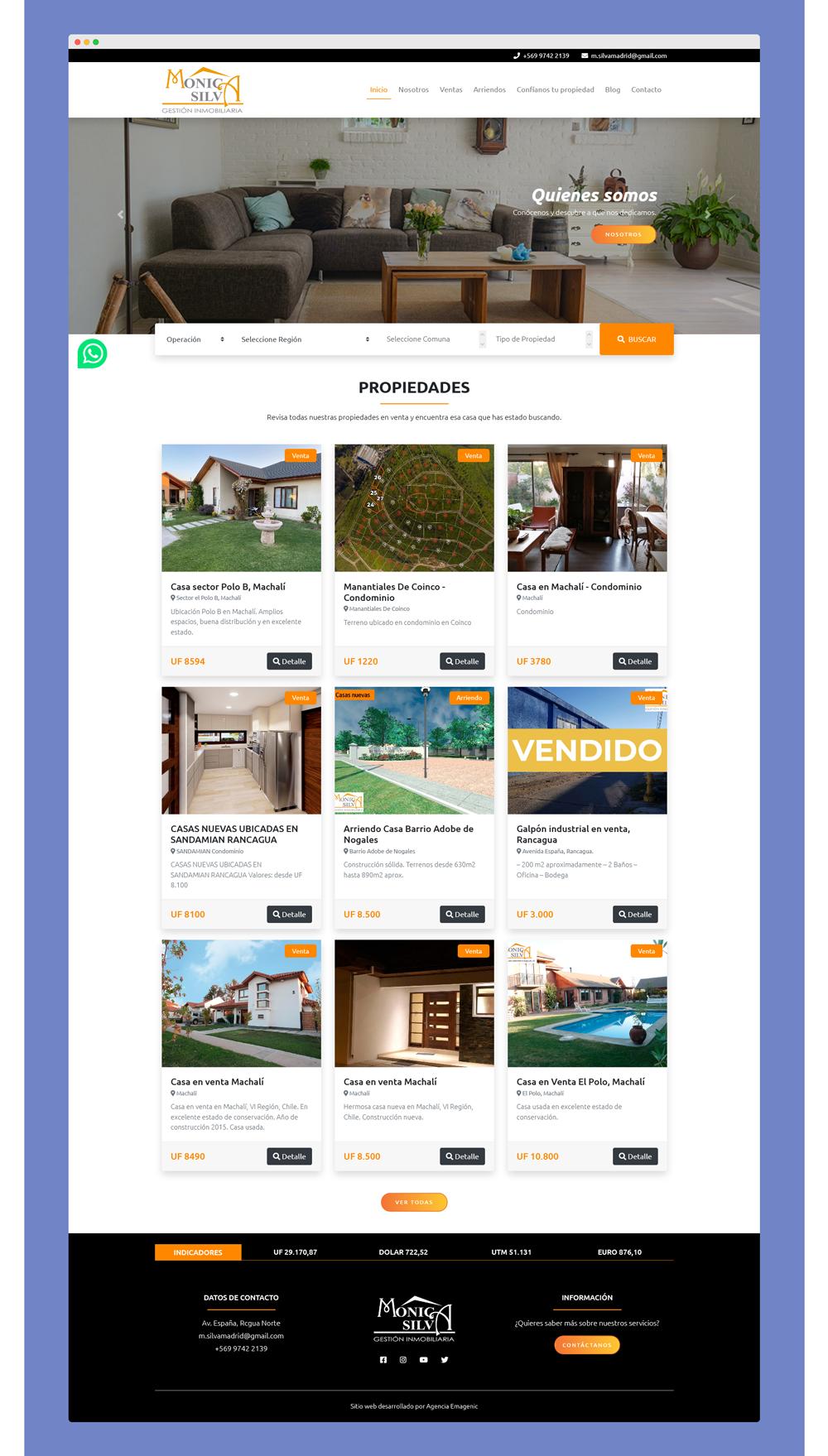 Desarrollo web corredores de propiedades